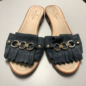 Kate Spade Brie Slide Blue Denim Size 6.5